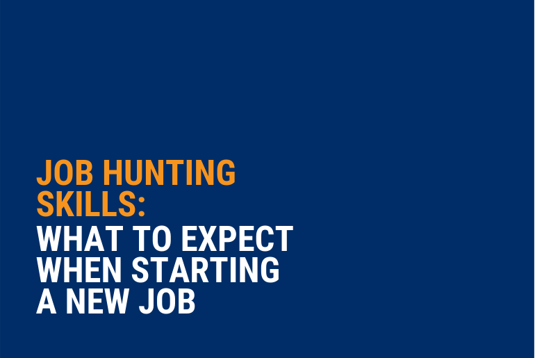 What to expect when starting a new job