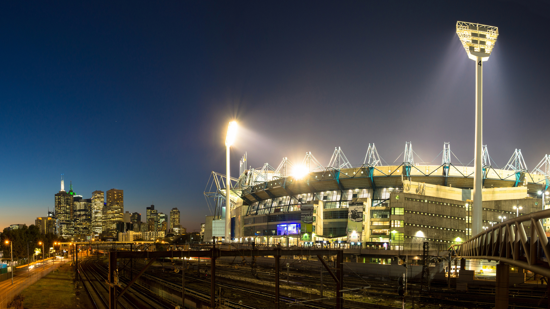 Melbourne Cricket Ground at night